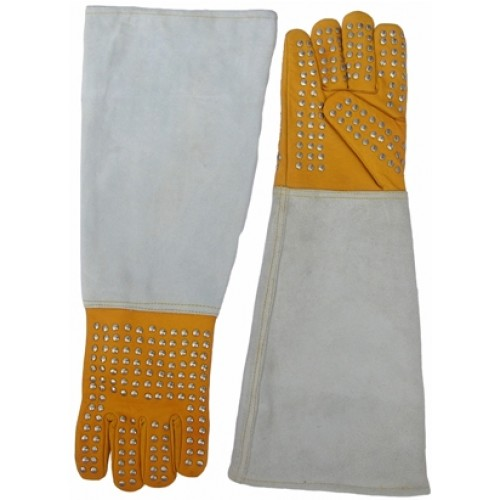 G-250   Reptile Handling Gloves (With Steel Studs)